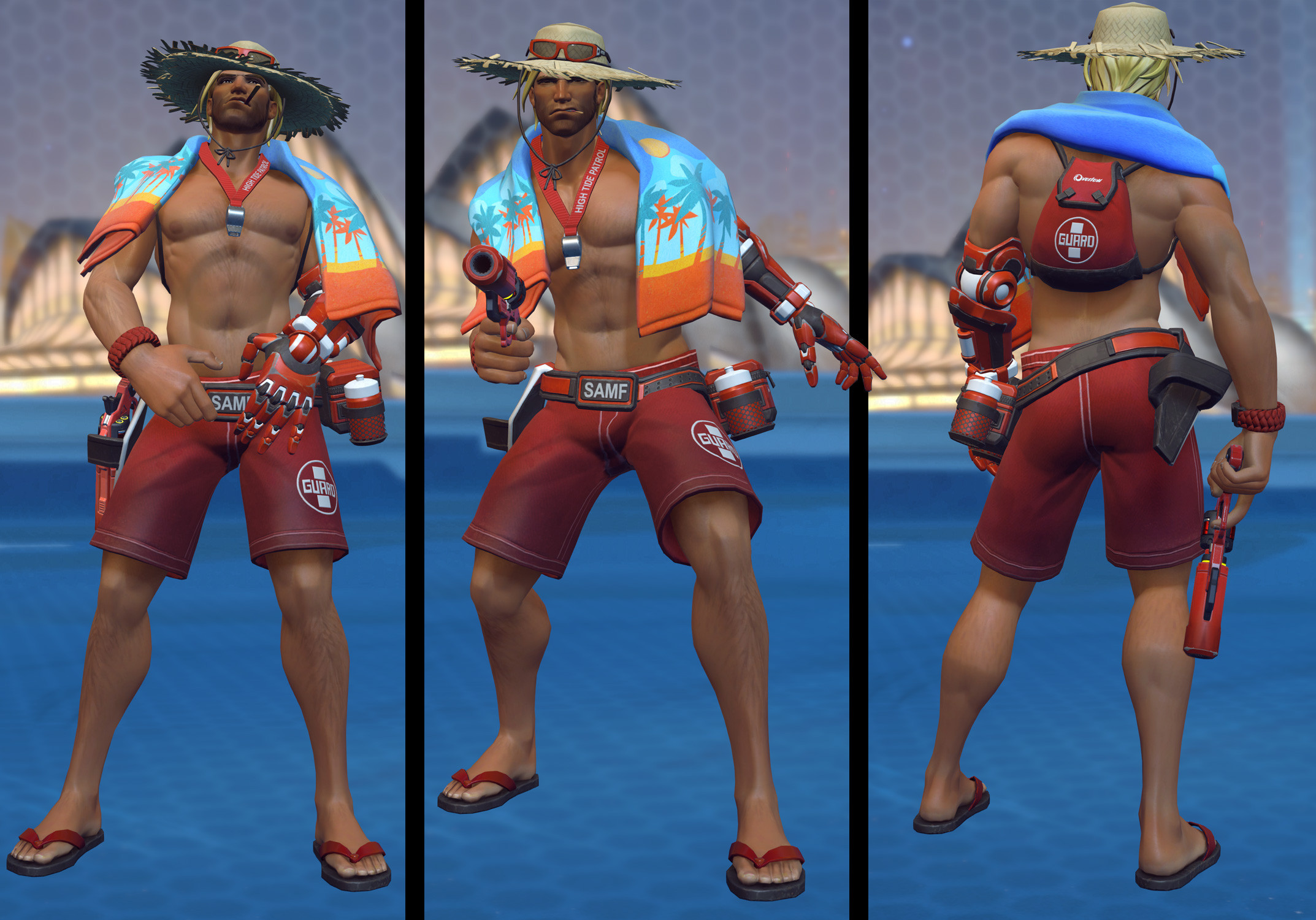 Lifeguard McCree for the Overwatch 2017 Summer Event