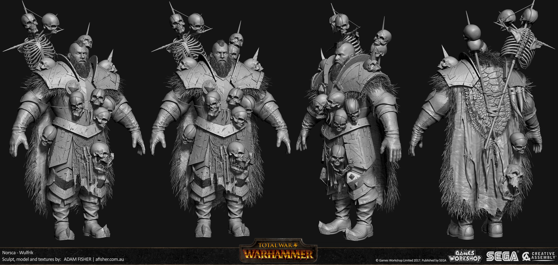 Adam fisher afisher norsca wulfrik hp01