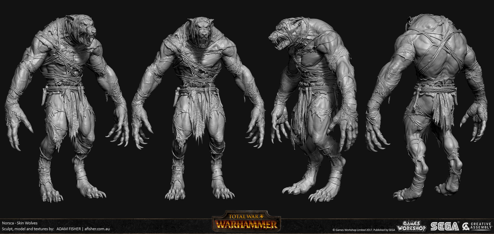 Adam fisher afisher norsca skin wolves hp