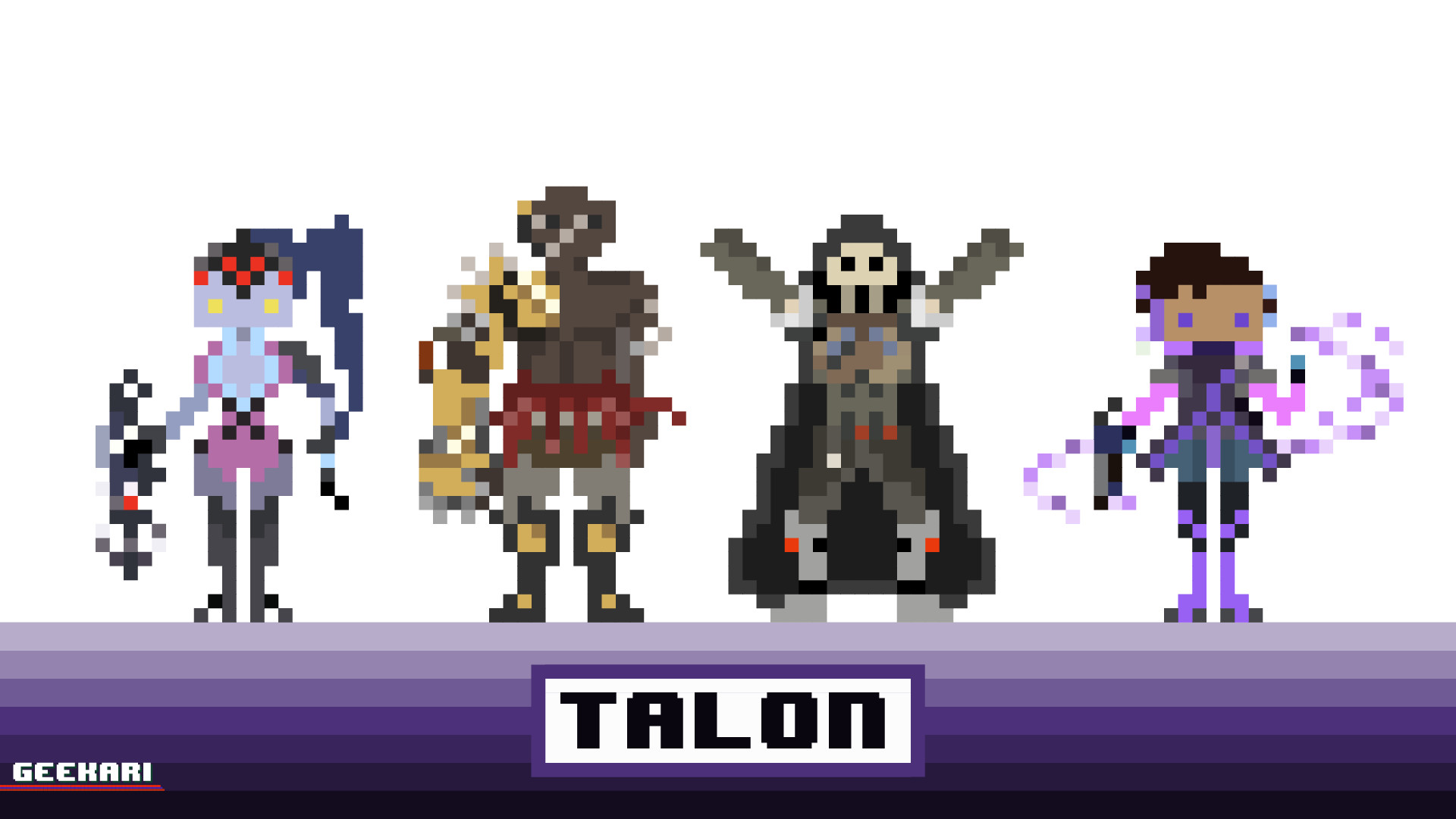 Artstation Talon From Overwatch In Pixel Art Cesar Salgado
