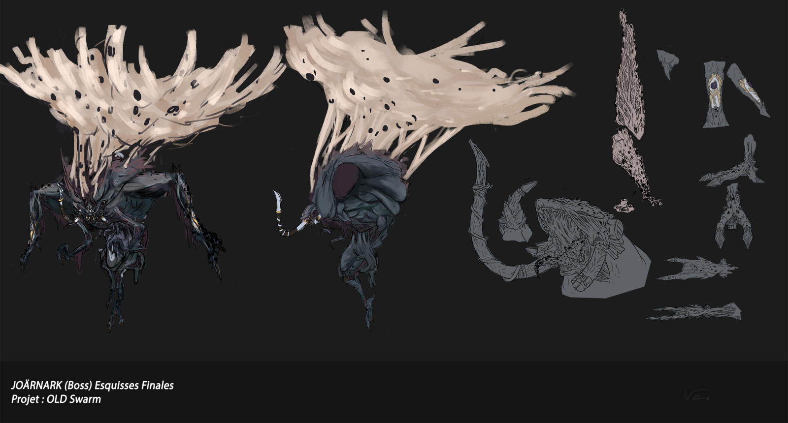 Before the change. Old Swarm Final Boss. Final sketch of the Boss
