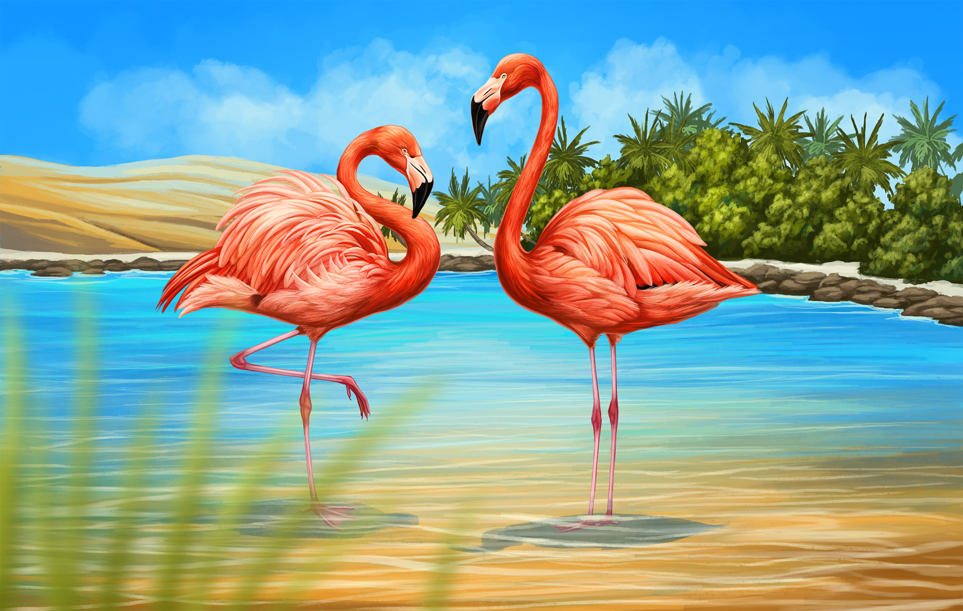 Martina nachazelova flamingo couple