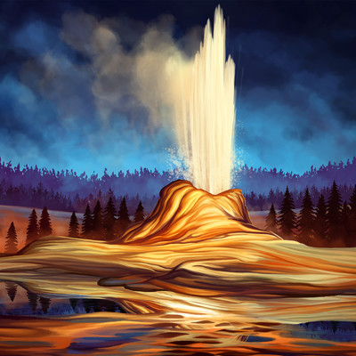 Martina nachazelova yellowstone geysir