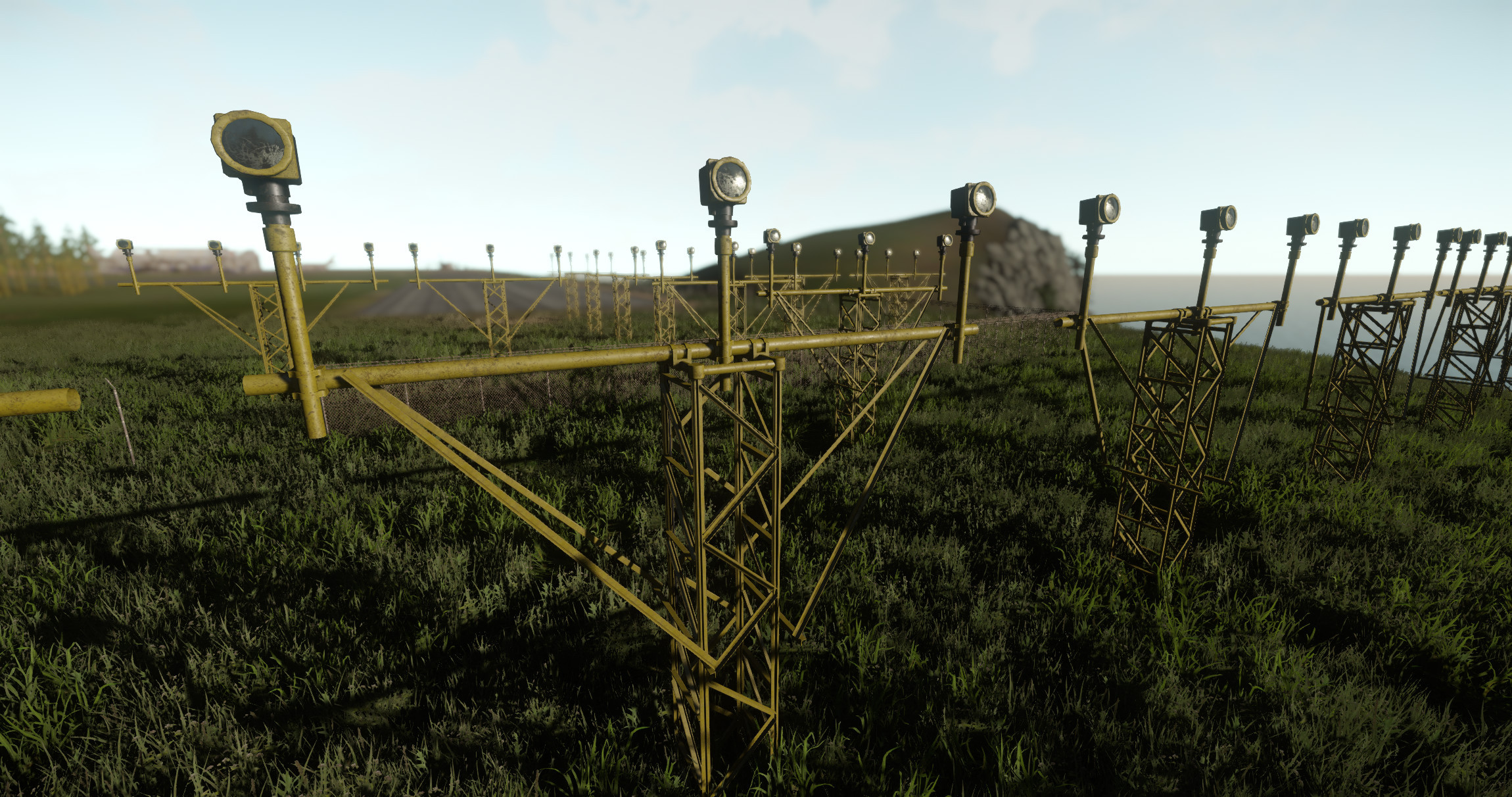 Airfield landing lights.