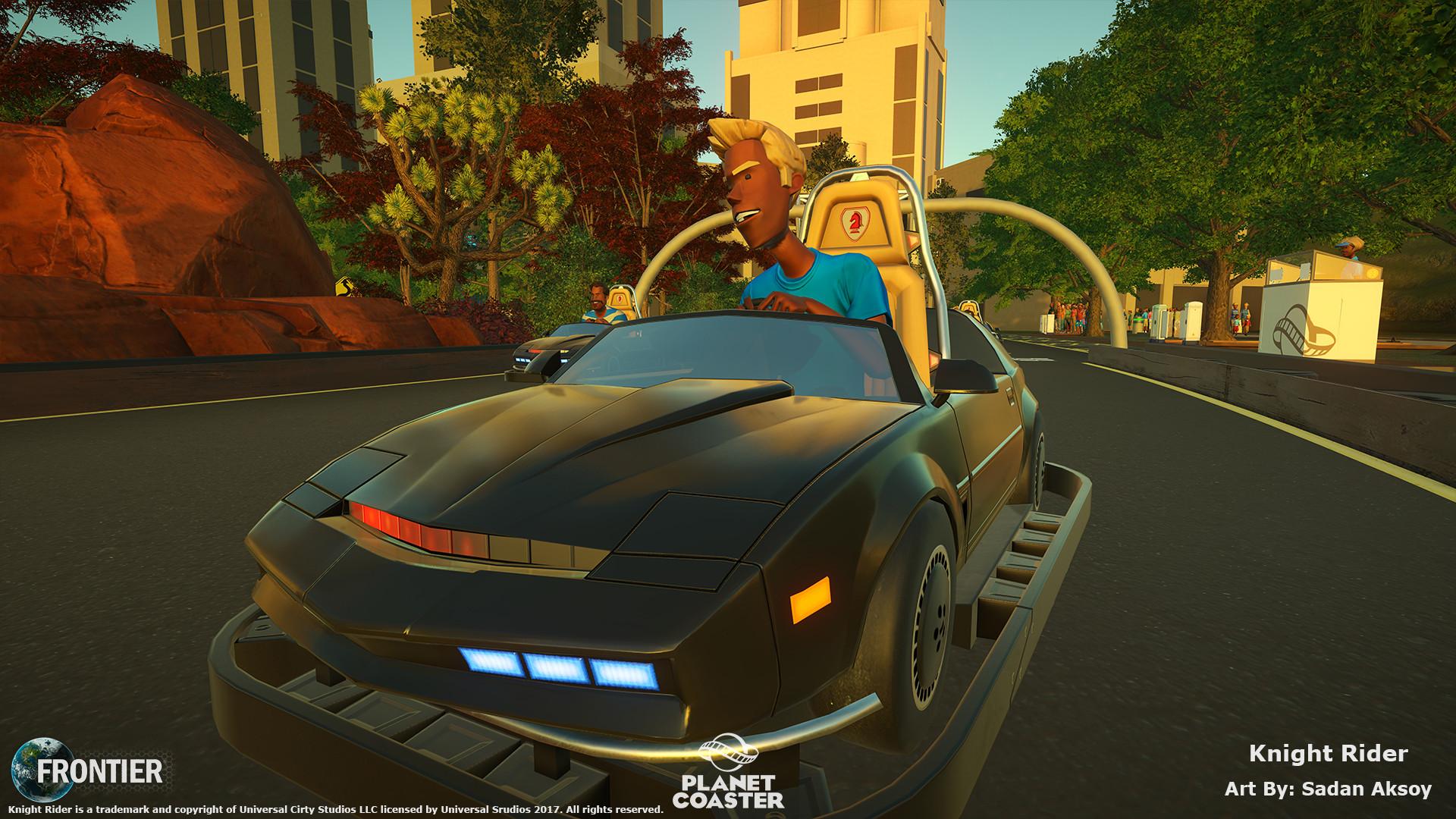 ArtStation - Planet Coaster - Knight Rider™ K I T T  Construction