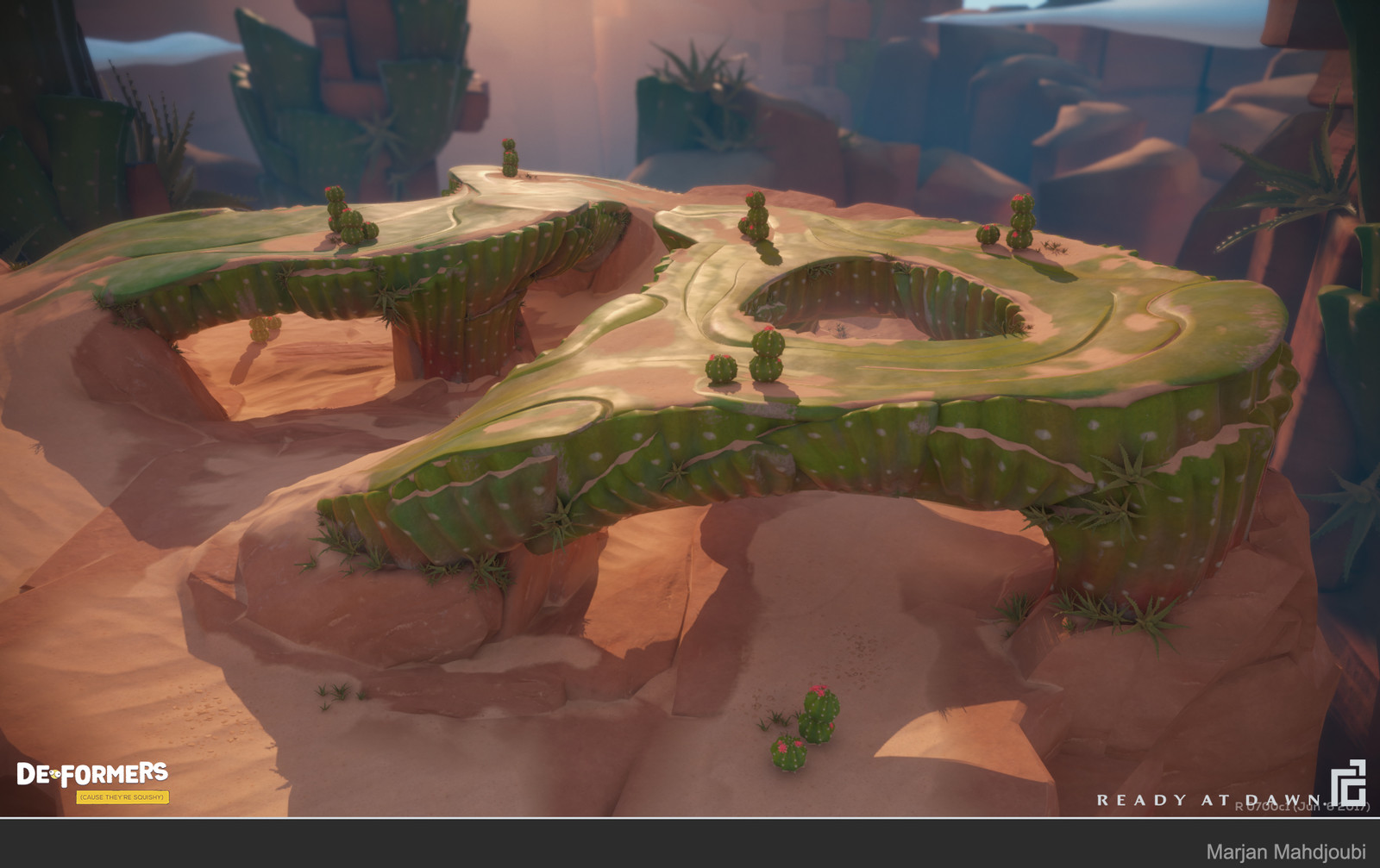 Prickly Peak Responsible For: Cactus Prop Model, Cactus wall stitching, Cactus floor, Clouds, Some Sand Skirts