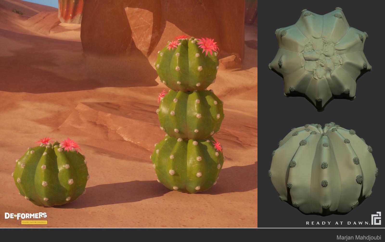 Responsible for Cactus Sculpt and Model. Texture by: Brandi Parish