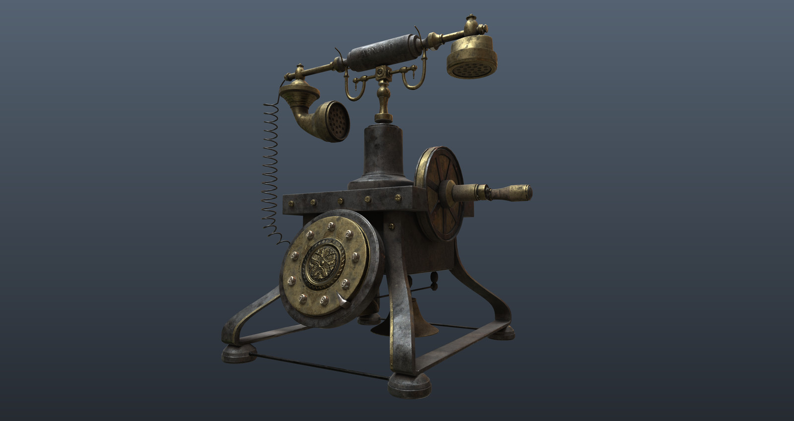 Old Phone steampunk