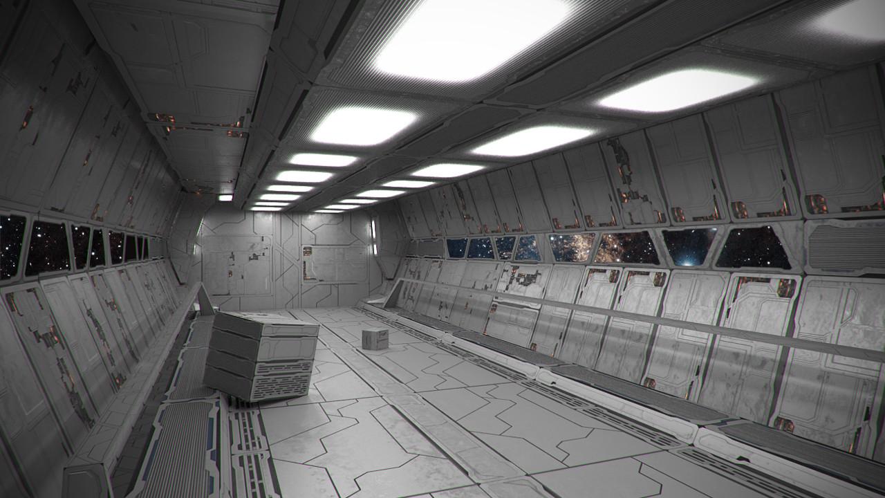 Attractive Spaceship Interior Fly Through