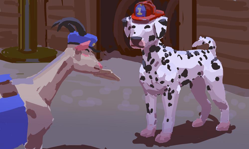 Devin platts dalmatian fireman