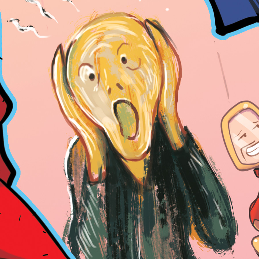 Munch's Scream detail