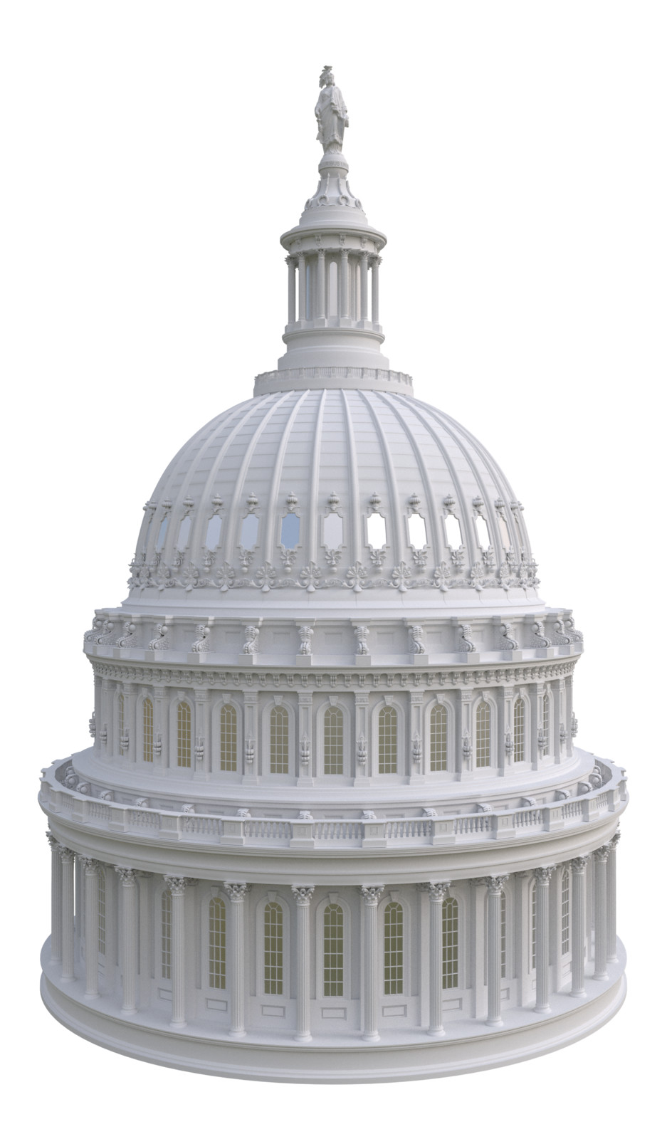 Capitol Rendering, only diffuse and glossy materials