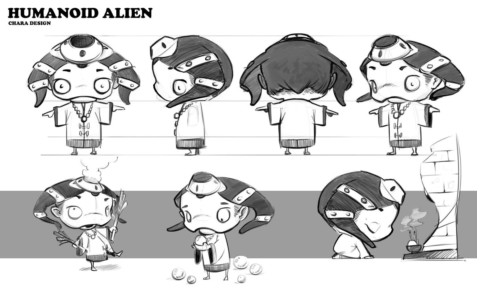 Atha kanaani character concept sheet humanoid alien
