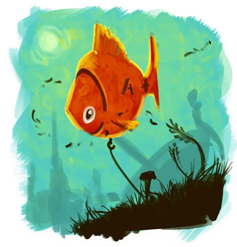 idea sketch for the robotic fish