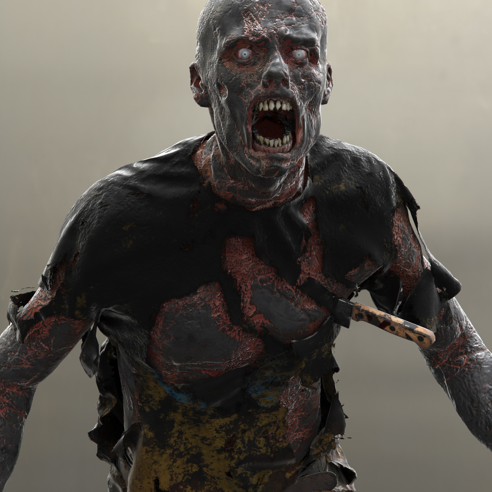 Burned Zombie