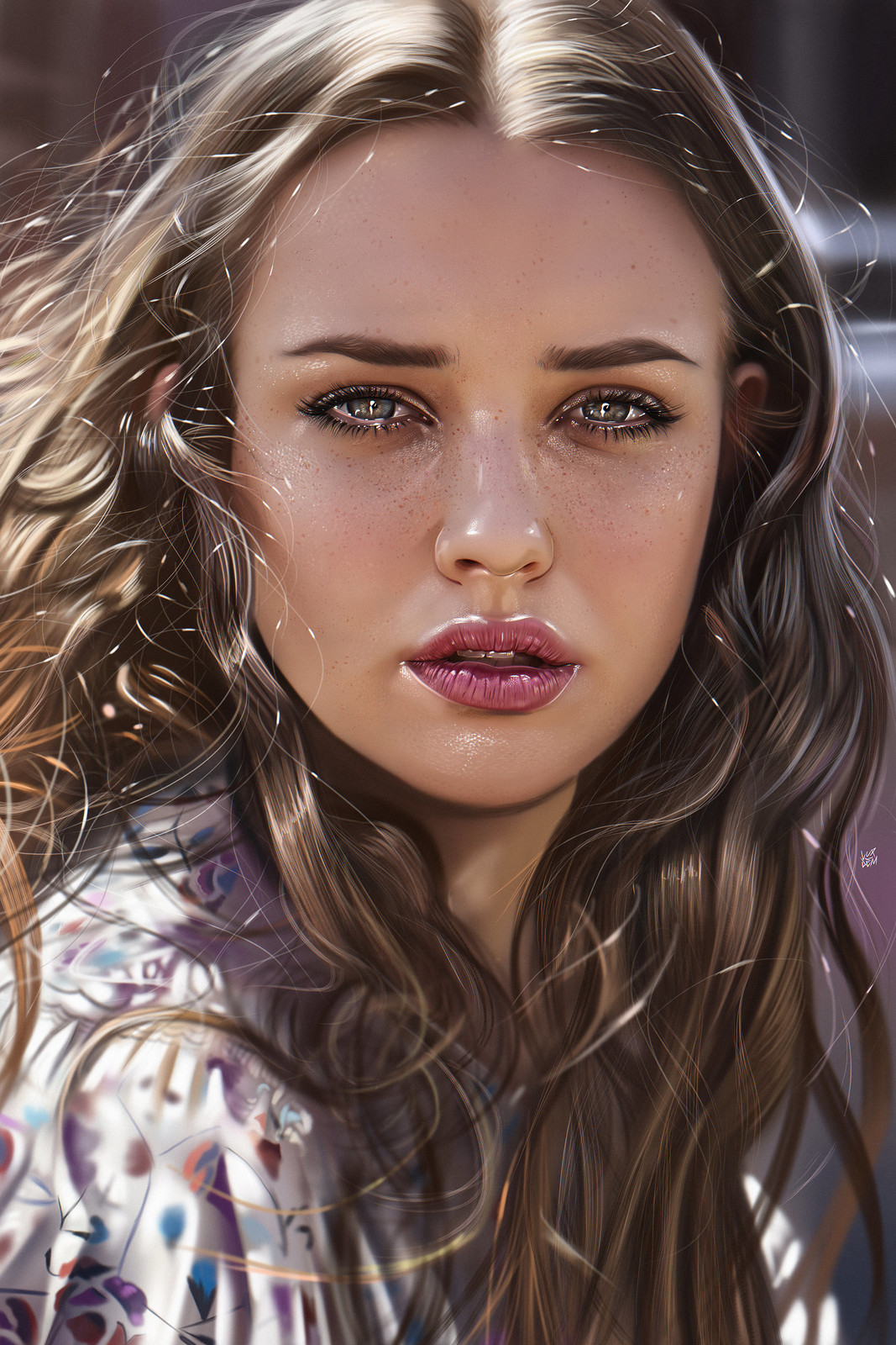 Katherine Langford Illustration