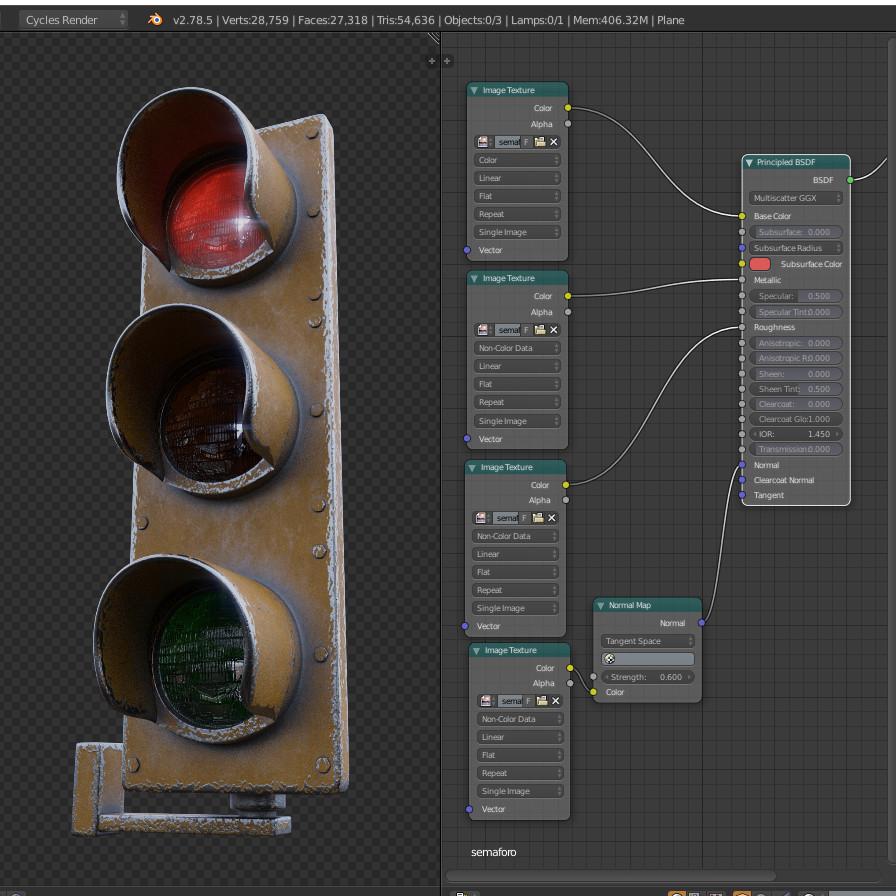 Traffic Light 2 - Principled Shader in Blender