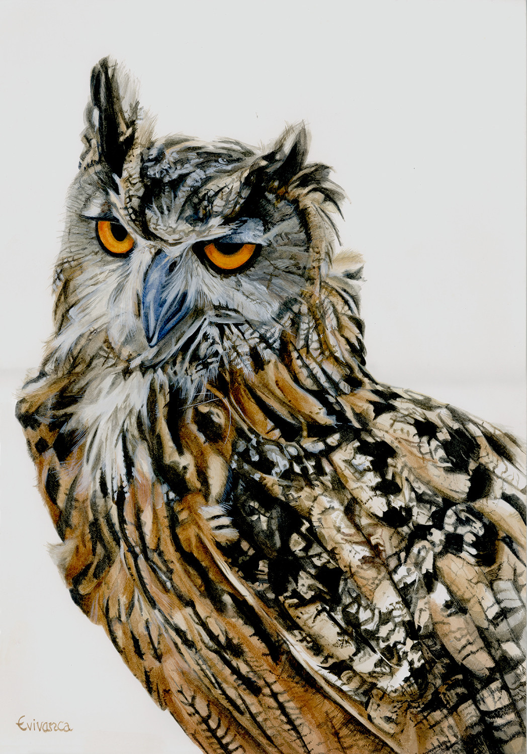 Bubo Bubo with fire-eyes