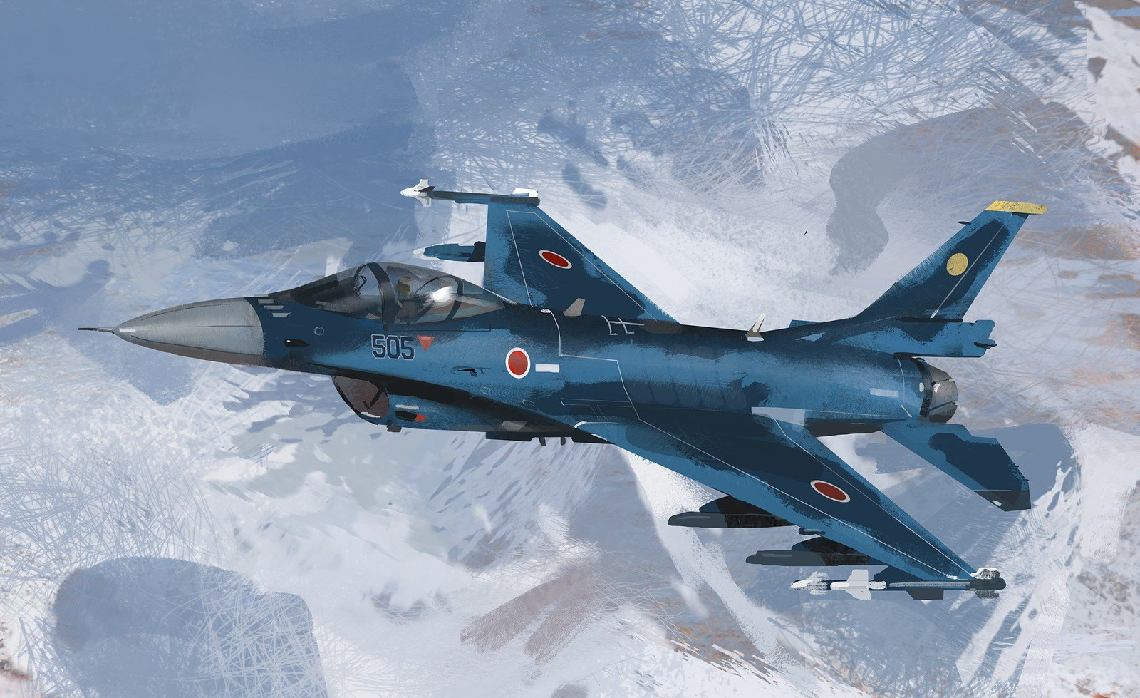 Mitsubishi F2 Flight Study