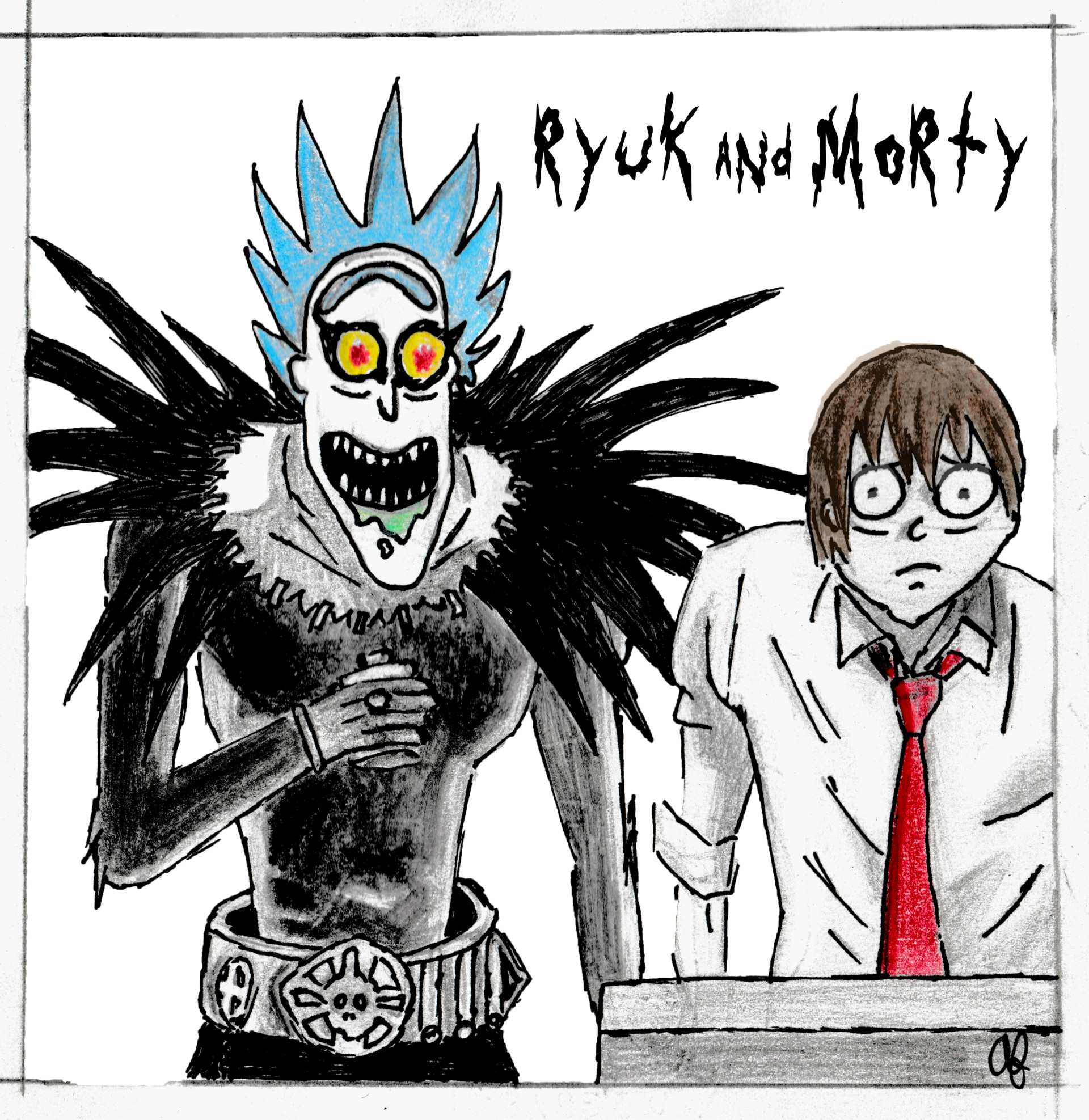aaron-knight-ryuk-and-morty-finish Rick And Morty