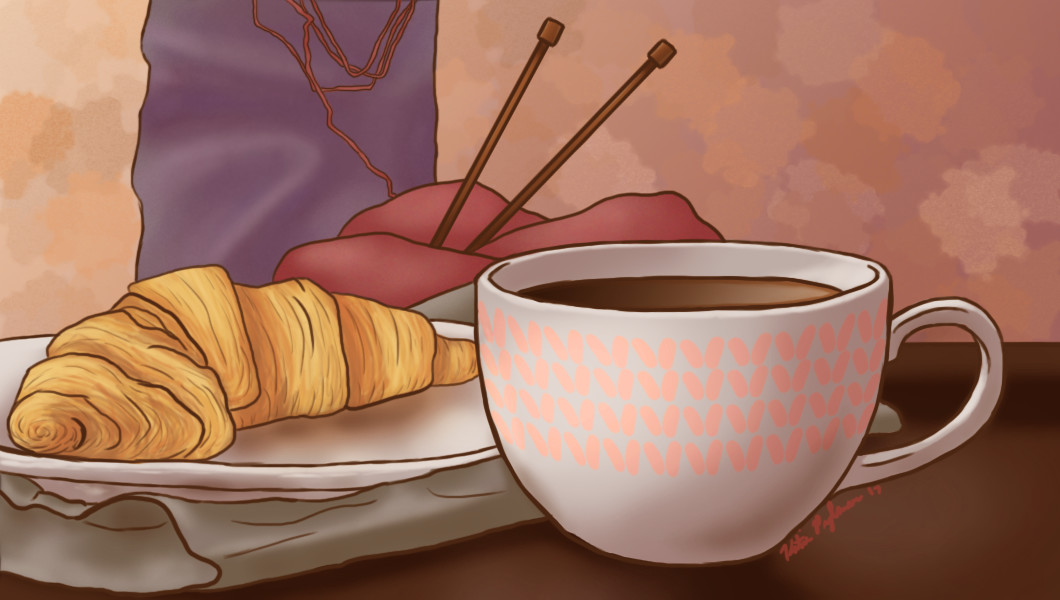 """""""Coffee and Goals"""" for the Tea & Trinket blog."""