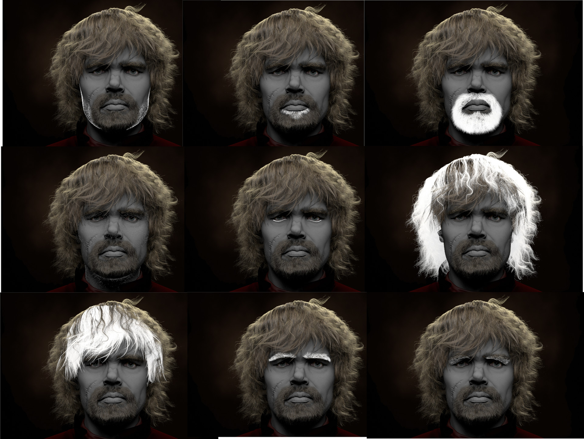 Tyrion Lannister-Hair layers