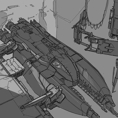 Martin deschambault landing ship sketch