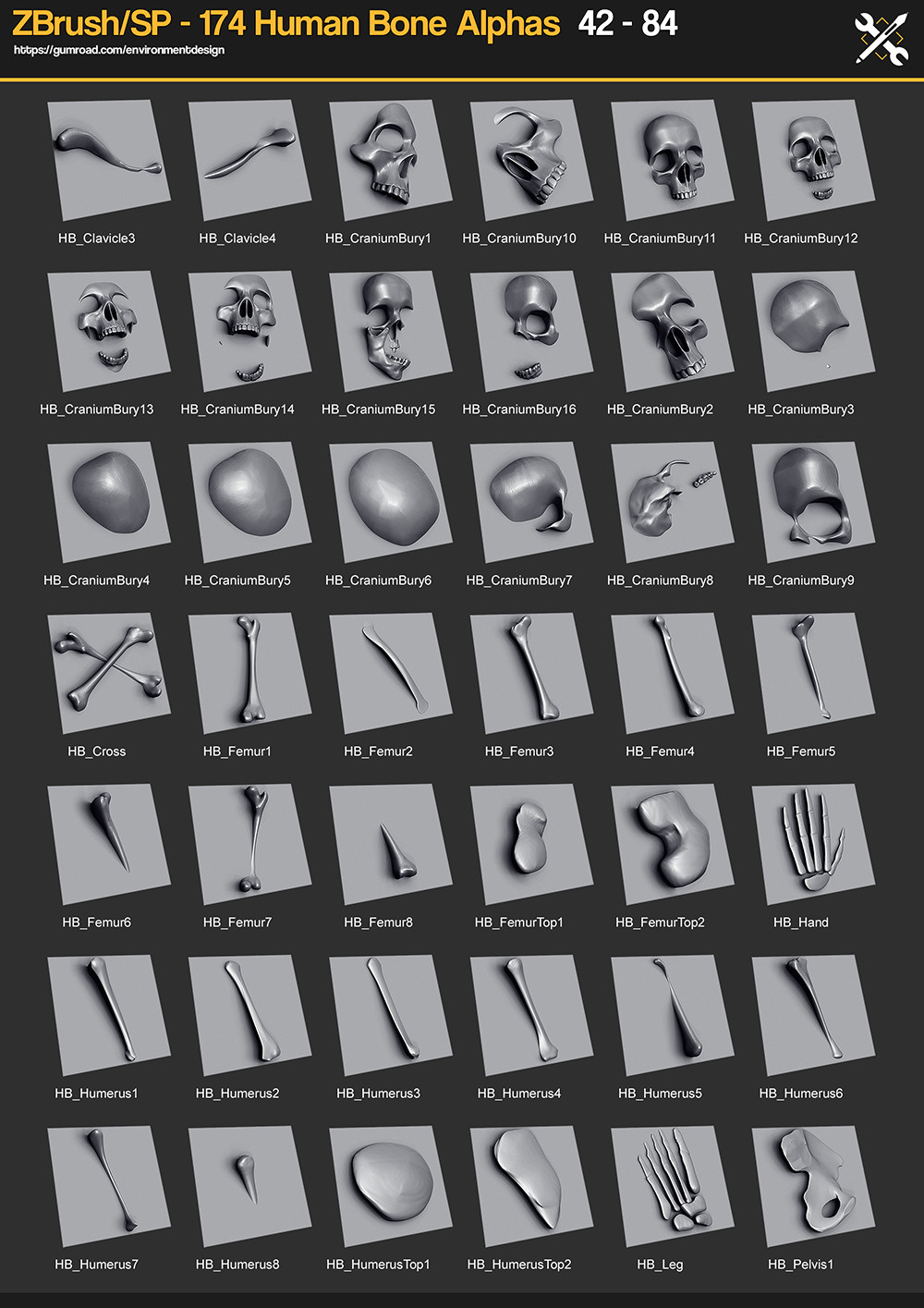174 Human Bone Alphas - https://gumroad.com/a/242660467