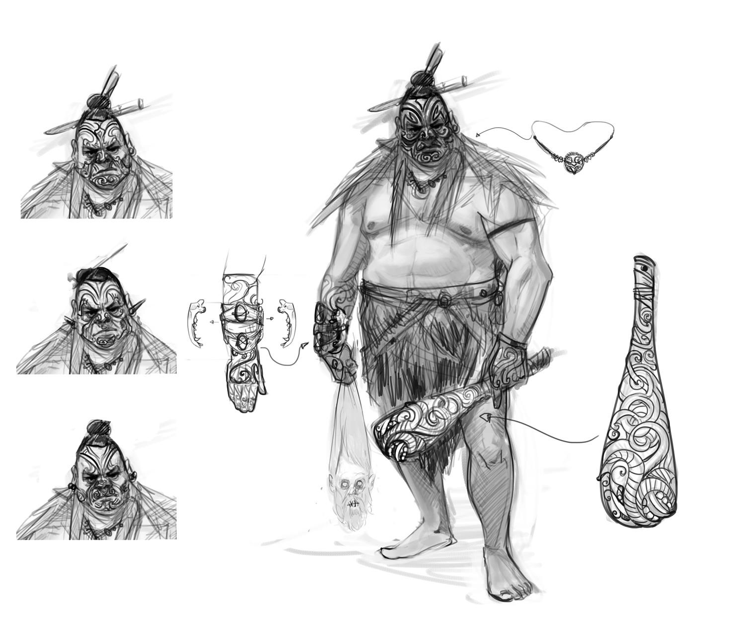 Carlo spagnola maori warrior