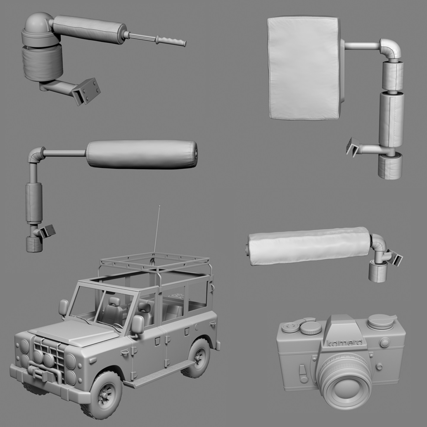 HiRez Props for Kinect Adventures for Microsoft Game Studios