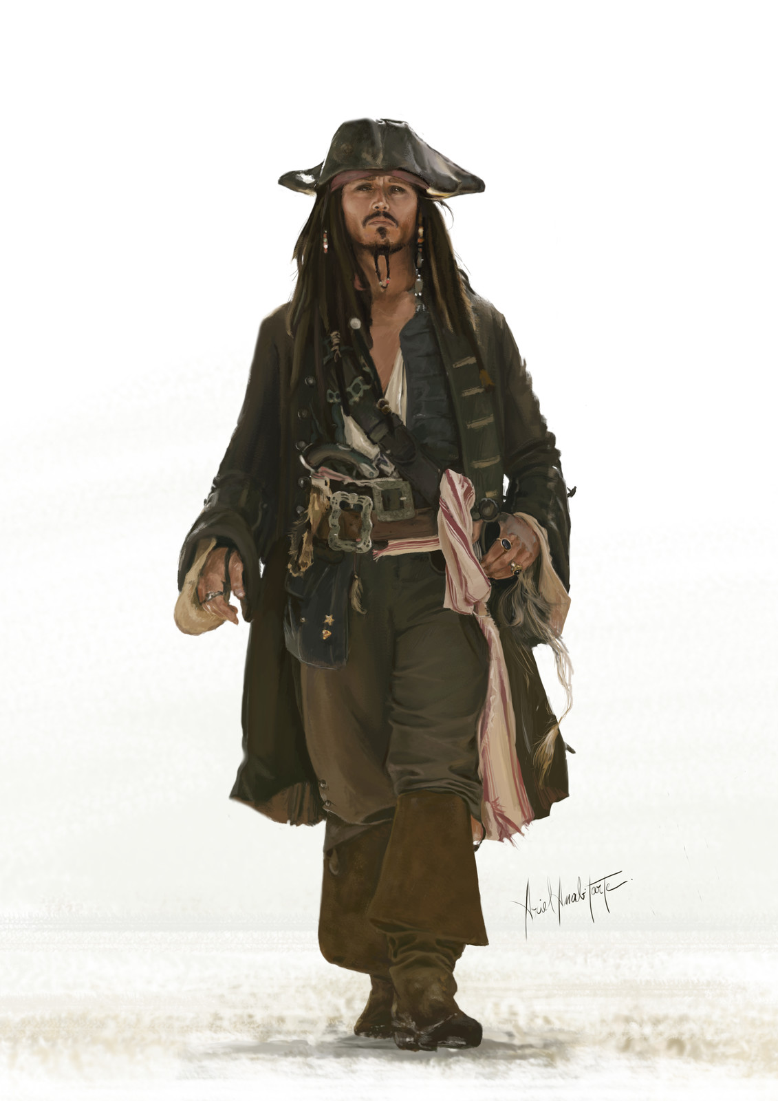 Pirates of the Caribbean (2011!!!) My first painting in photoshop.