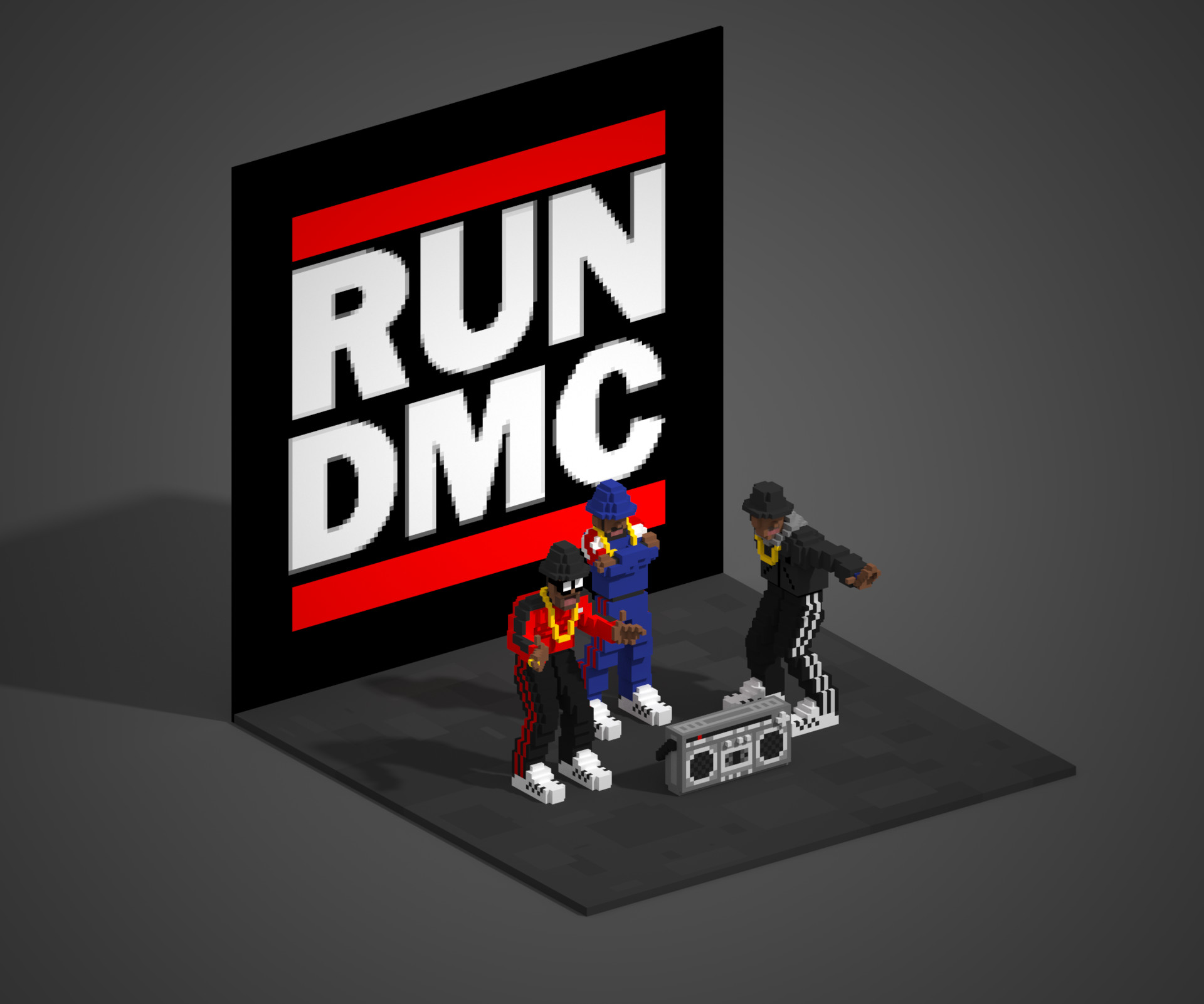 ArtStation - RUN DMC, Mike Nicholson