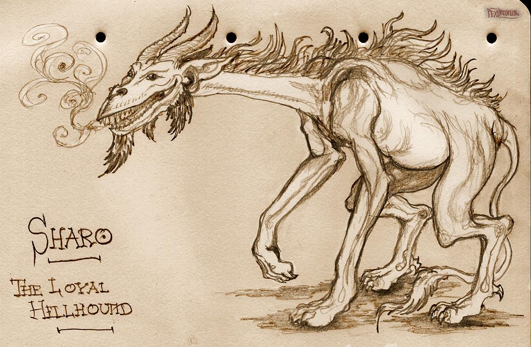 "Translates as ""Fido"" apparently, the loyal Hellhound"