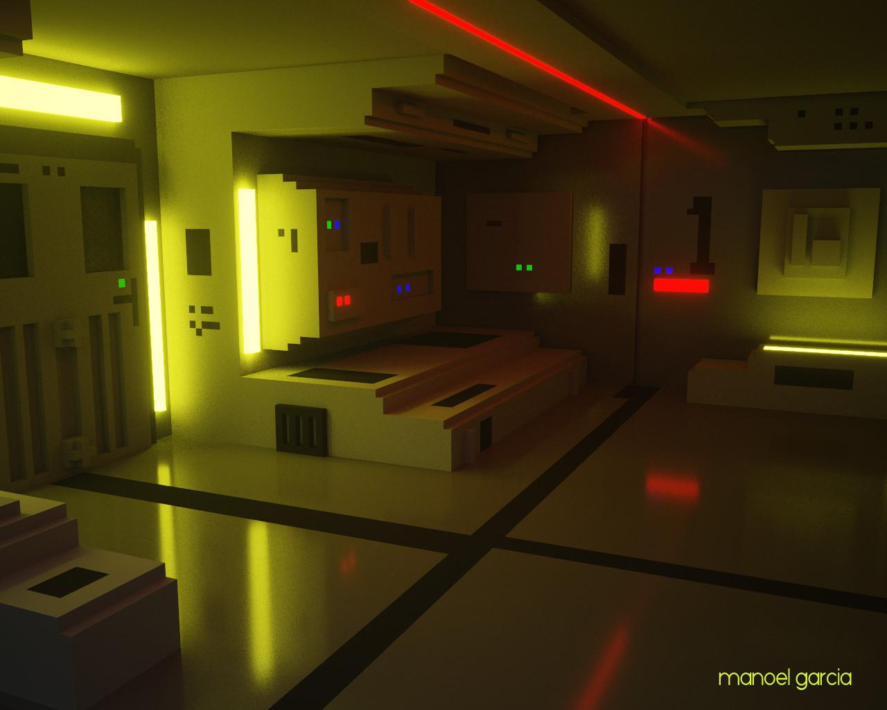 Sci-fi Interior - Moon Tribute