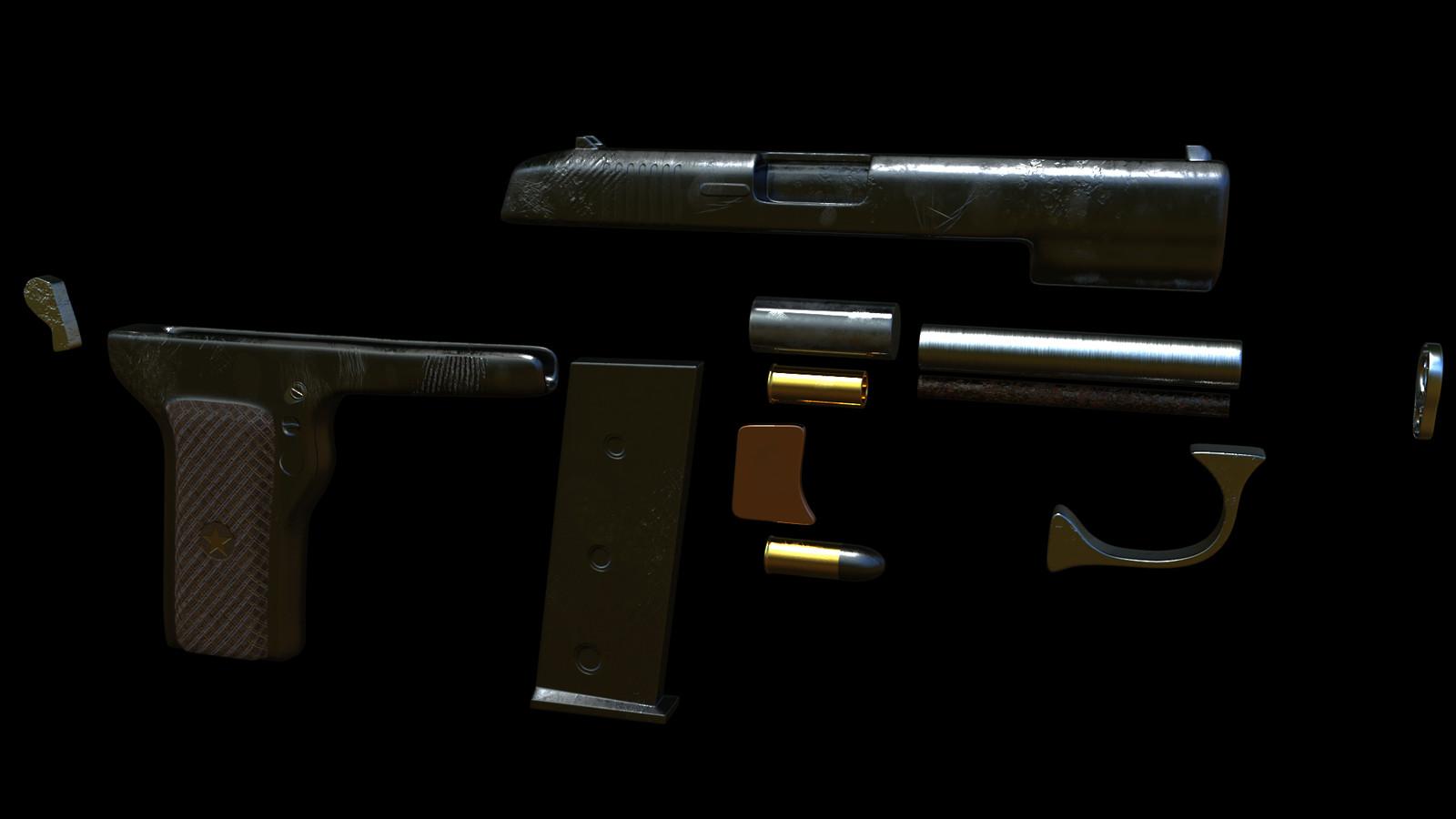 Quickly modelled baby's gun