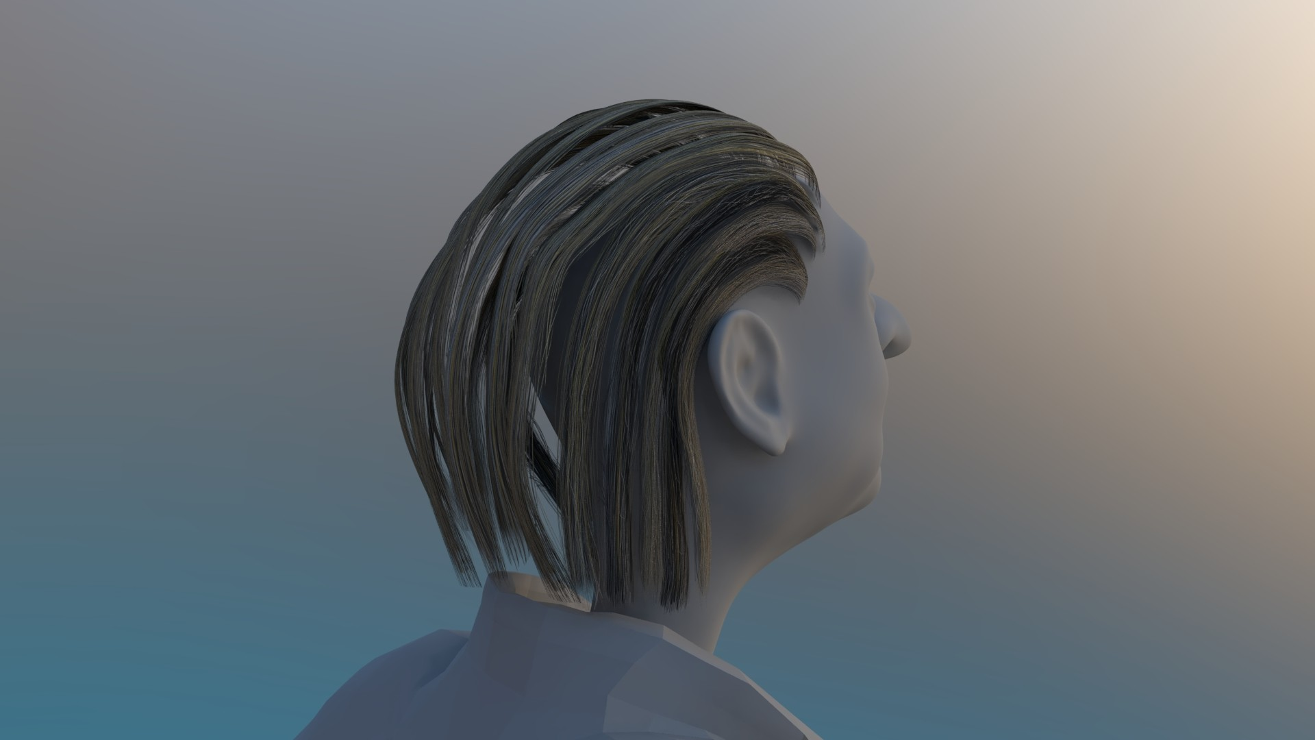 Hair made using polycards.