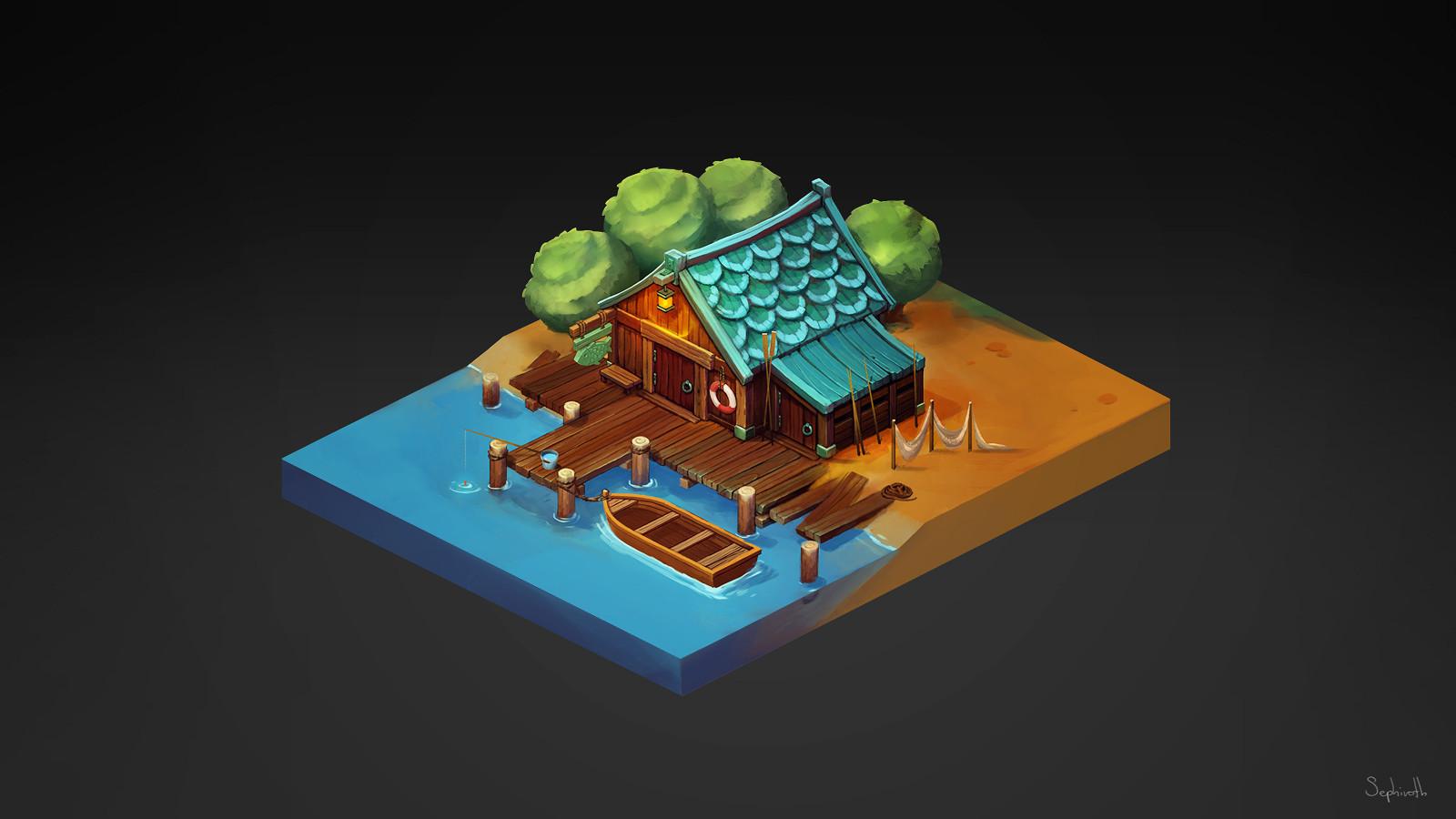 Isometric Fisherman's House