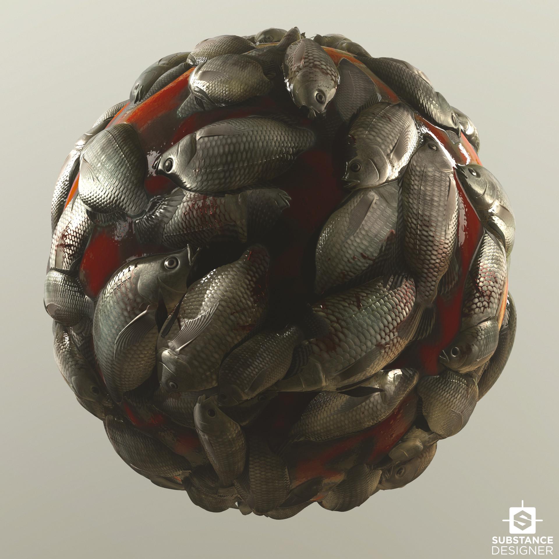 Dead Fish Pile: Building Complex Shapes in Designer