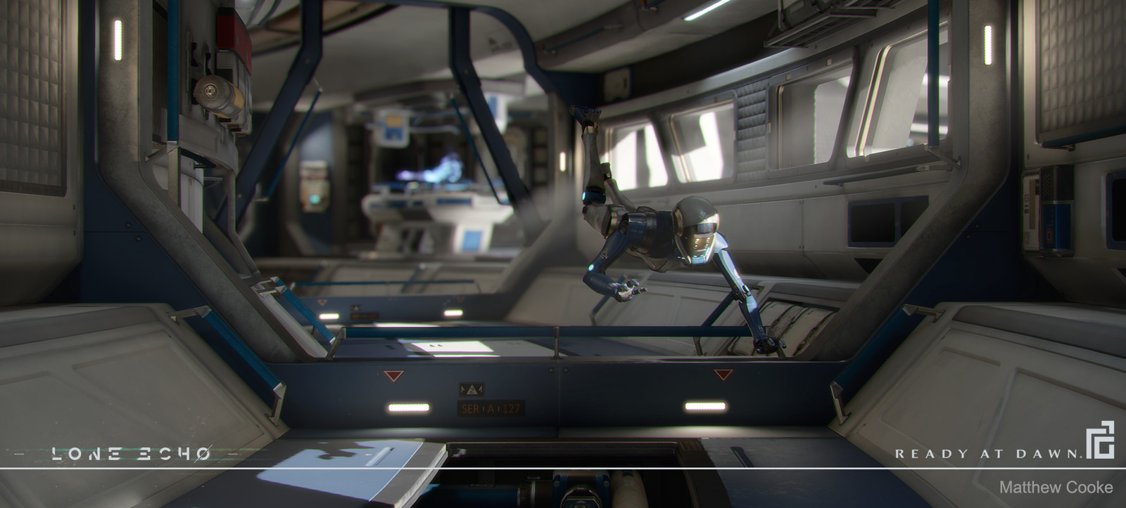 Station Interior - The robot was posed for this shot, not identical in-game.