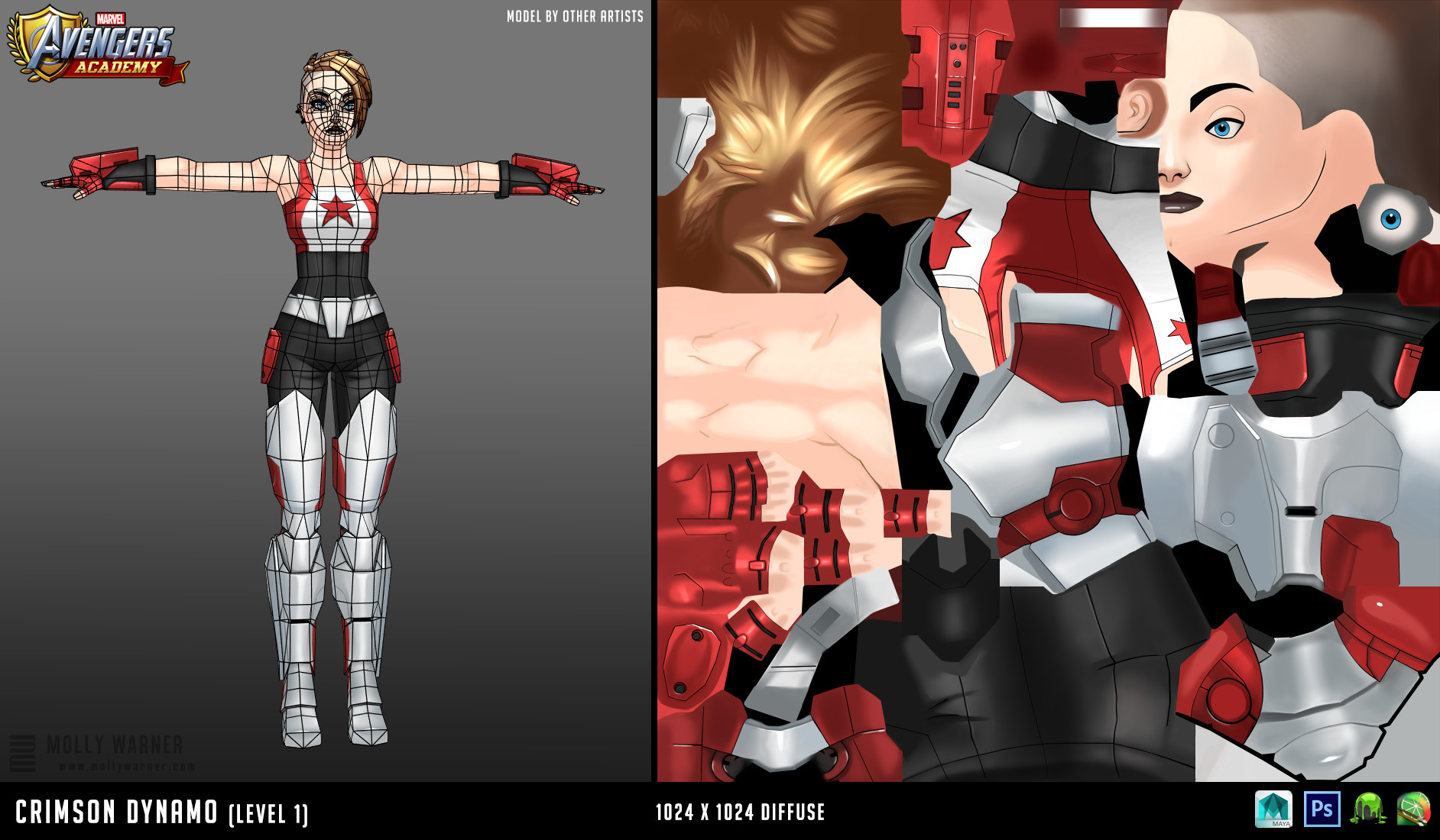 Molly warner 4 crimson dynamo l1 textures wireframe