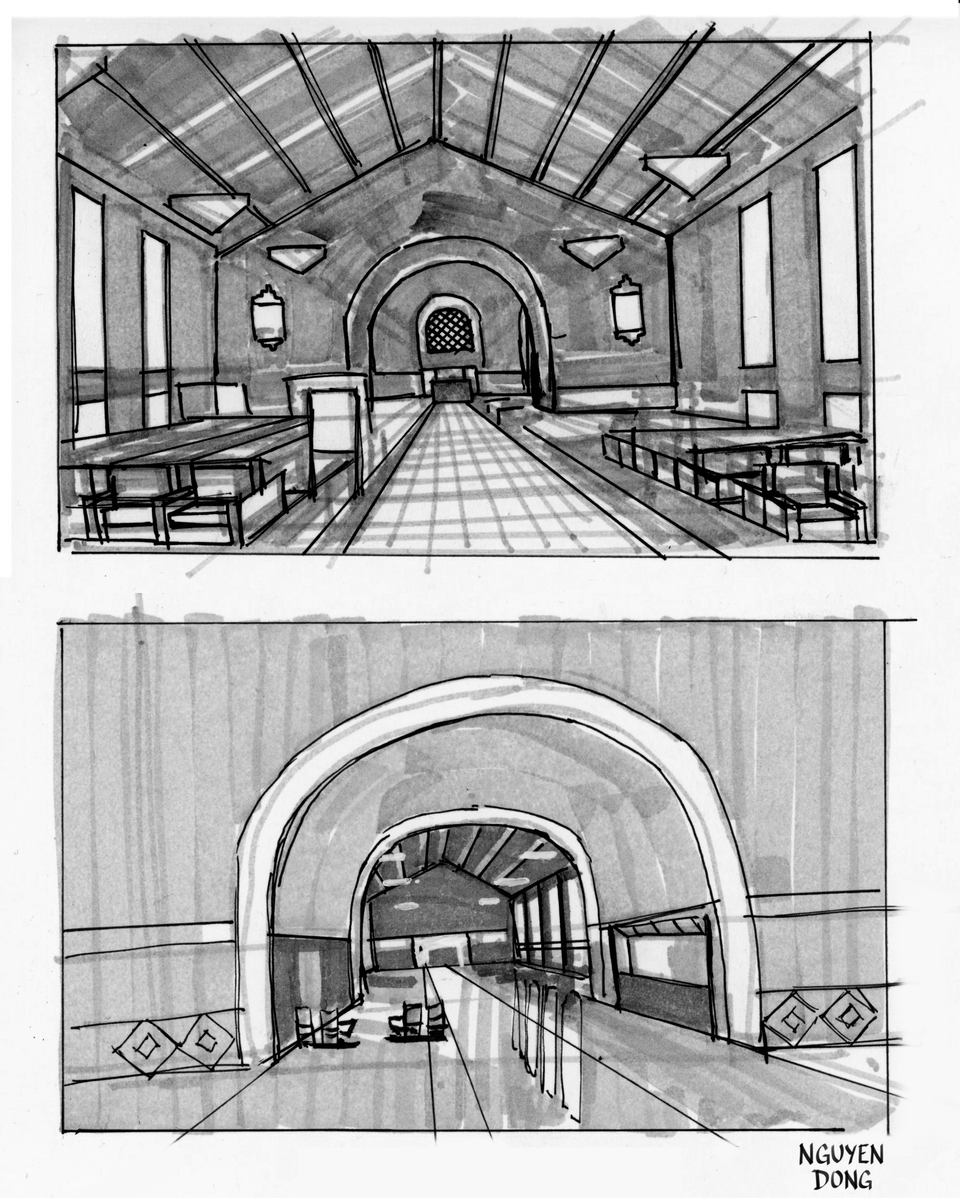 Union Station field sketch