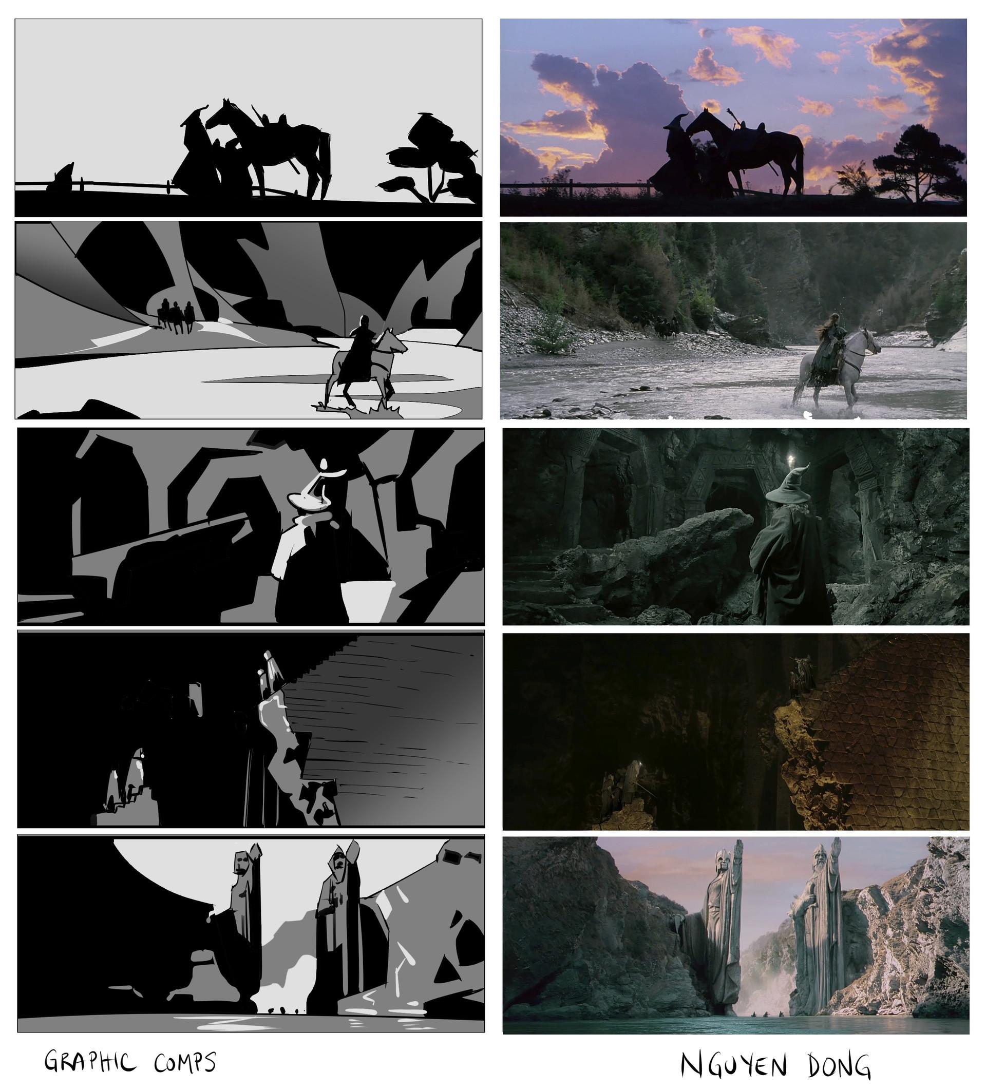 Frame studies - graphic composition