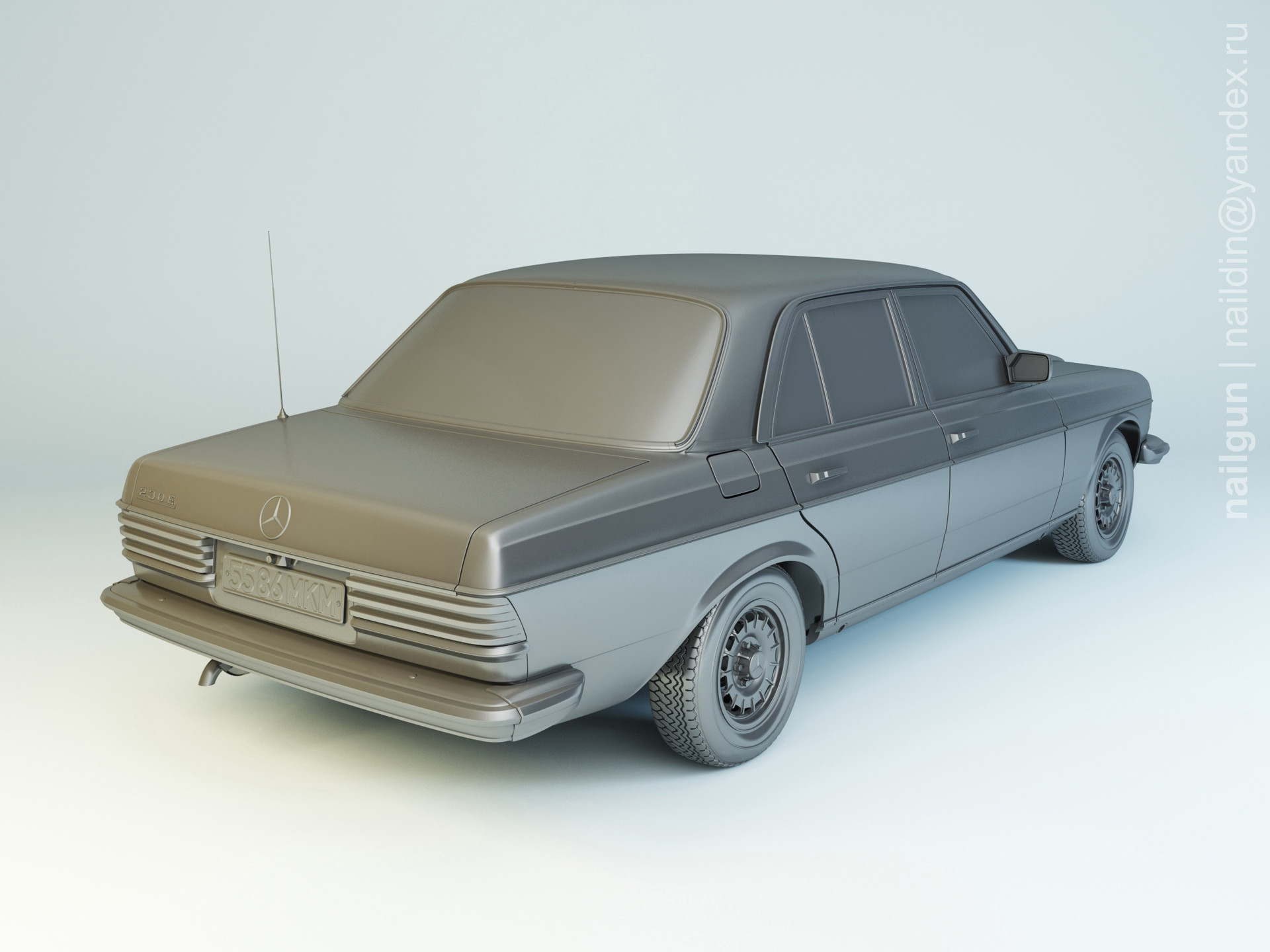 Nail khusnutdinov pwc 059 003 mercedes w123 modelling 1