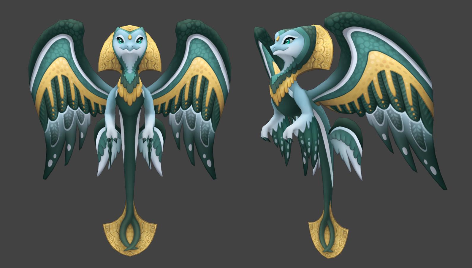 ArtStation - DragonVale World Virgia Dragon, Adam Roark