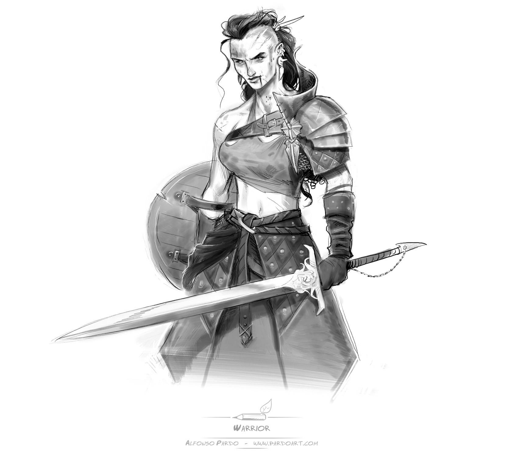 Alfonso pardo martinez warrior pardoart