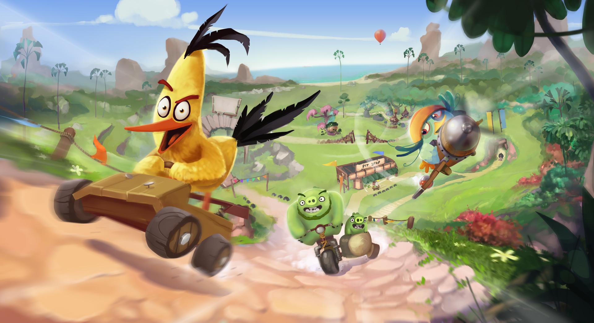 ArtStation - Angry Birds Go 2, Shakeel Alli