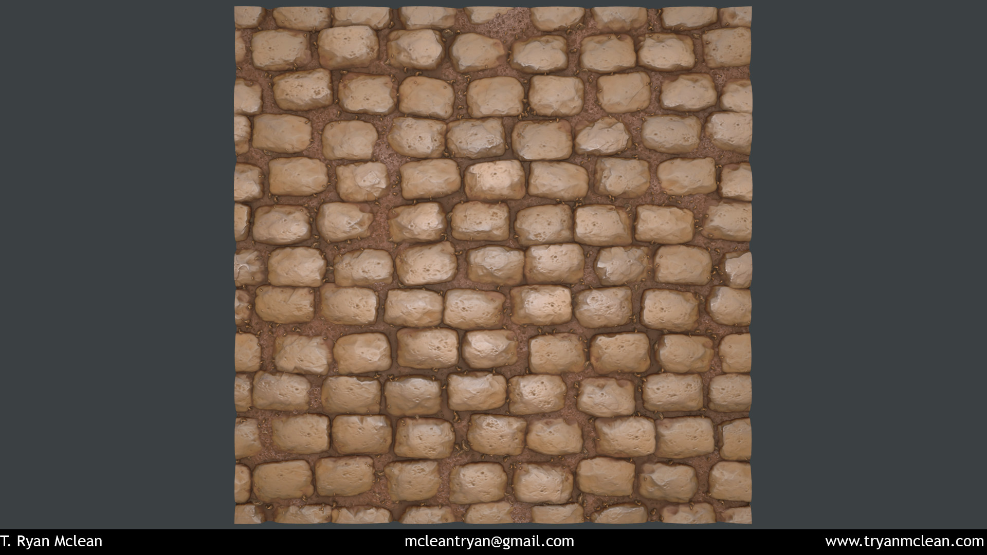 Cobblestone Material created in Substance Designer and rendered in Marmoset Toolbag.