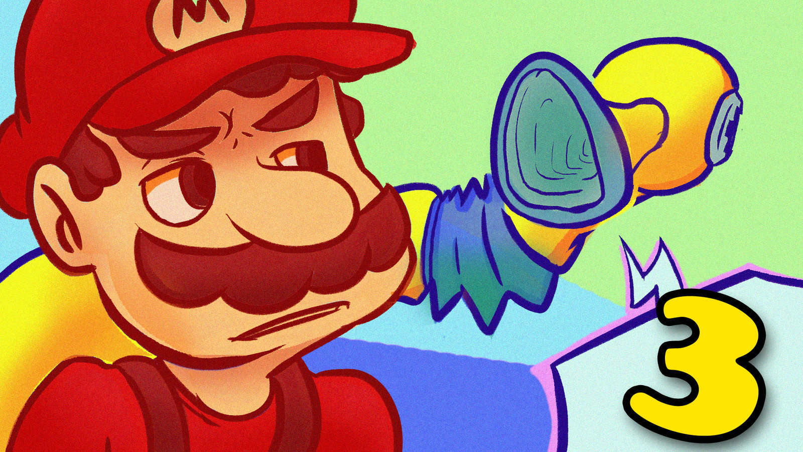 """Thumbnail for the """"Super Mario Sunshine"""" series on """"Totally Good at Games""""."""