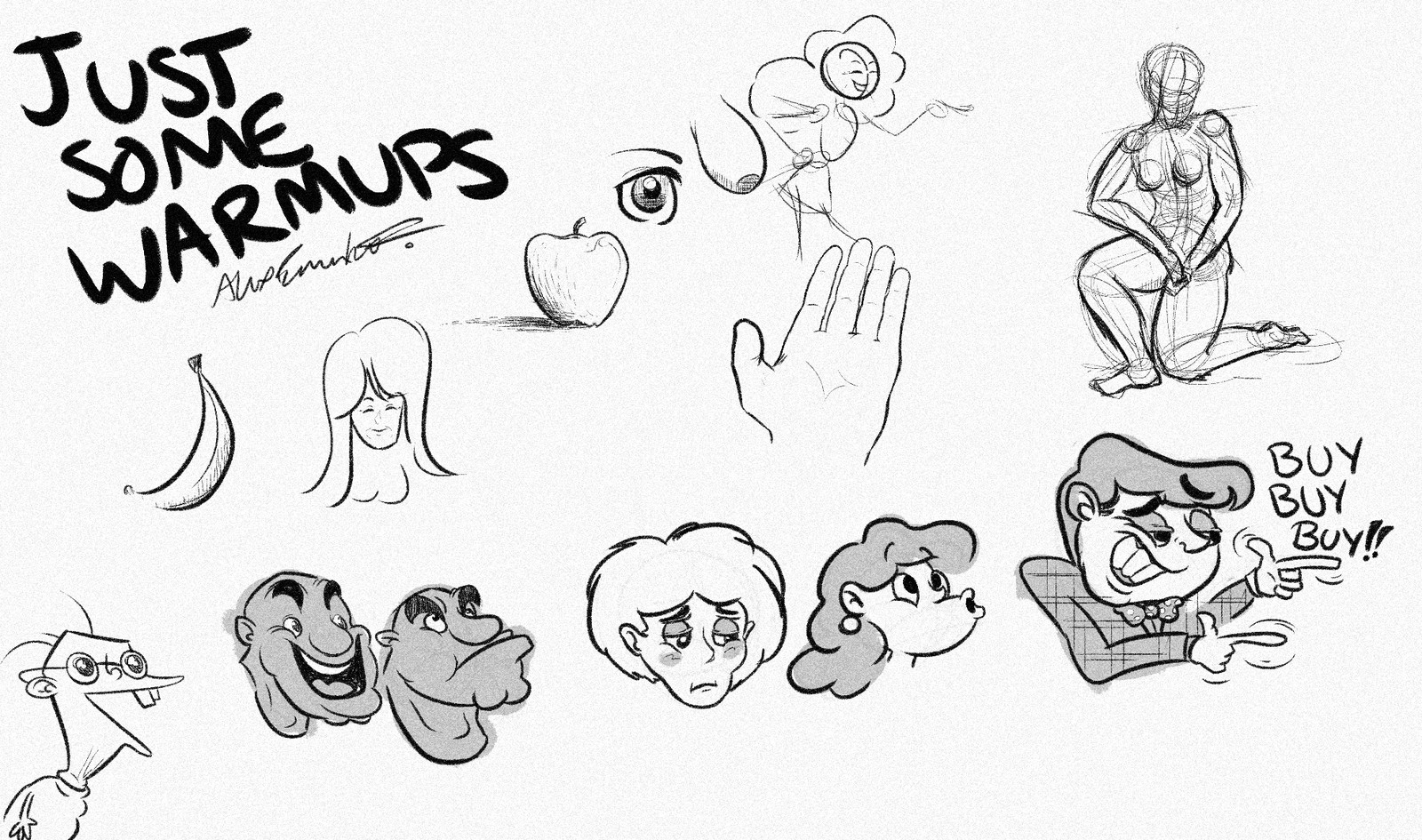 Warm-up sketches.