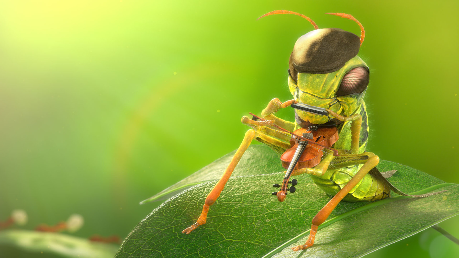 """""""Where are you going with those heavy things?"""" asked the grasshopper.  Without stopping, the first ant replied, """"To our ant hill.  This is the third kernel I've delivered today."""""""